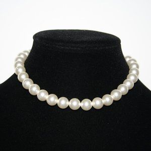 "Elegant pearl necklace adjustable 14-16"""